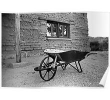 Old Time Wheelbarrow Poster