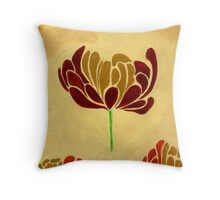 Tulips and Tissues...Autumn Flowers Throw Pillow