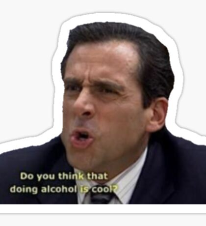 The Office - Michael Scott Alcohol Sticker