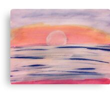 Calm sunset, watercolor Canvas Print