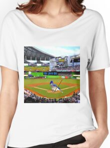 GO JAYS GO BLUEJAY BASEBALL APPAREL-PILLOW-JOURNAL-TOTE BAG-SCARF-PICTURE-ECT.. Women's Relaxed Fit T-Shirt