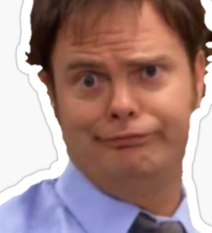 The Office - Dwight as Jim Sticker