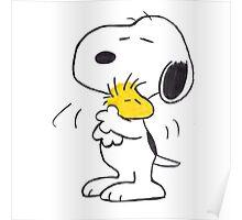 hug Peanuts Snoopy Poster