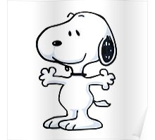 snoopy funny tears Poster