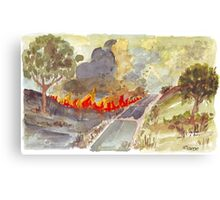 Veldfire in Magaliesburg Canvas Print
