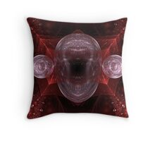 The Crystal Mask Throw Pillow