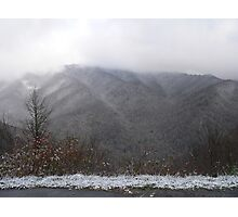 Snow In The Great Smokey Mountains. Photographic Print