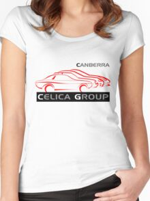 Canberra Celica Club - Light design Women's Fitted Scoop T-Shirt