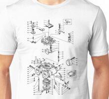 Twin carburettor - Light design Unisex T-Shirt