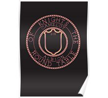 Arthurian Legends  Knights of the Round Table on black Poster