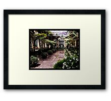 Taking a stroll in the Green House Framed Print