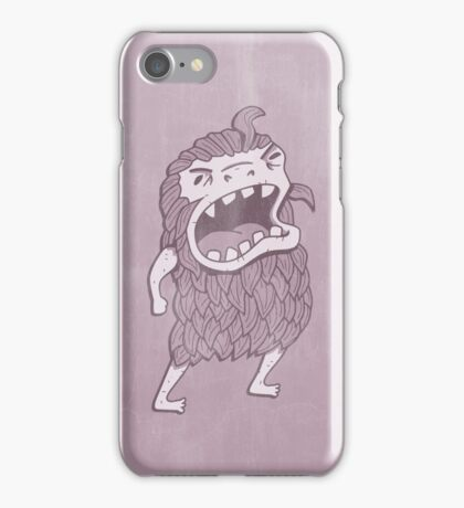 Sasquatch knows his manners iPhone Case/Skin