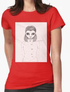 Barn Wood Mask Womens Fitted T-Shirt