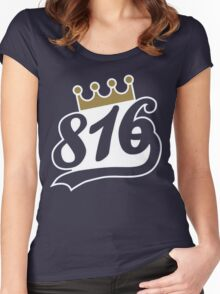 816 - Kansas City Royals Women's Fitted Scoop T-Shirt