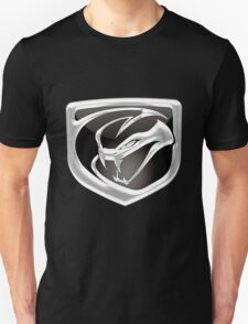 Dodge Viper - 3D Badge on Black T-Shirt