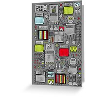 Retro Robots 2016 Calendar Greeting Card