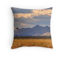 Windmill nr Wilpena West Wall Throw Pillow