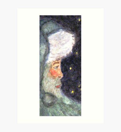 Blue Santa Art Print