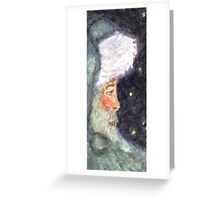 Blue Santa Greeting Card