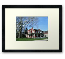 Landis Valley hotel Framed Print