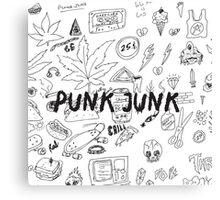 Punk Junk Canvas Print