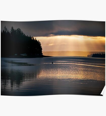 Filucy Bay Sunrise Poster