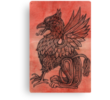 Red Gryphon Canvas Print