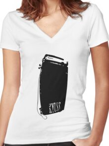 kyuss amp Women's Fitted V-Neck T-Shirt