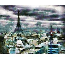 View Over Paris Photographic Print