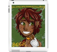 Badger Black Spice Tea iPad Case/Skin