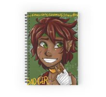 Badger Black Spice Tea Spiral Notebook