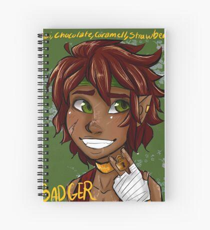 Badger Black Spice Tea Spiral Notebook