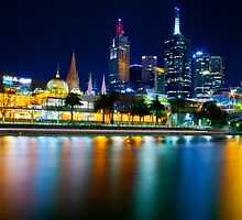 Melbourne by Night by Brad Tierney