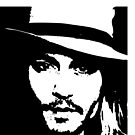 Johnny Depp iPhone Case by Lauren Eldridge-Murray