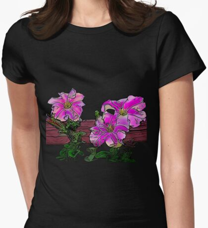 Petunias Womens Fitted T-Shirt