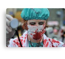 Paging Dr Zombie Canvas Print