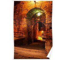 Castello di Lombardia, the Gate. Enna, Sicily, Italy 2011 Poster