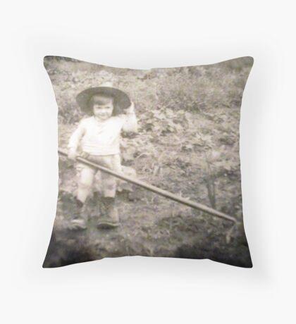 Working in the Garden Throw Pillow
