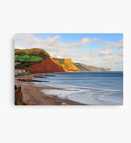 Triassic Cliffs, Sidmouth, Devon, UK Canvas Print