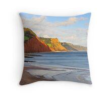 Triassic Cliffs, Sidmouth, Devon, UK Throw Pillow