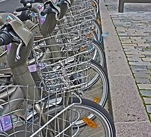 Vélos for hire, Bercy, Paris by Paul Gilbert