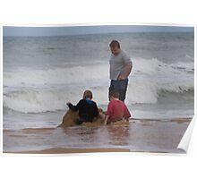 fun at Loch Sport Beach Poster
