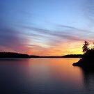 The Lake at Nightfall by Virginia Shutters