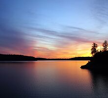 The Lake at Nightfall by Virginia Shutters