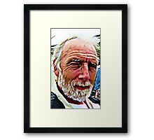 PORTRAIT OF THE ARTIST AS AN OLD GUY Framed Print