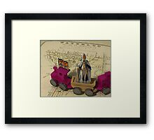 HRH King George III heading to George Street 2011 via 1880 Framed Print