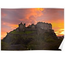 Sunrise over Edinburgh Castle Poster