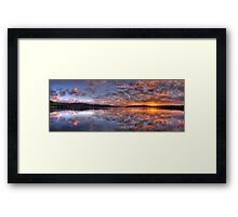 Reflecting The Day - Narrabeen Lakes, Sydney Australia - The HDR Experience Framed Print