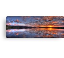 Reflecting The Day - Narrabeen Lakes, Sydney Australia - The HDR Experience Canvas Print