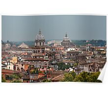 The Rooftops over Rome Poster